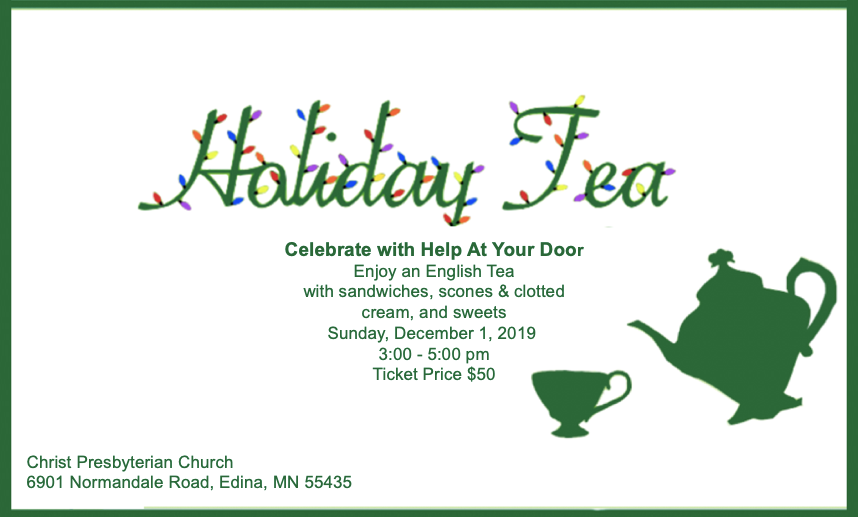 Holiday Tea Information